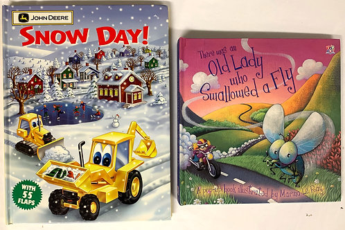 Preschooler Snow Day Book Stack