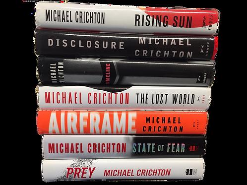 Michael Crichton SciFi Book Stack