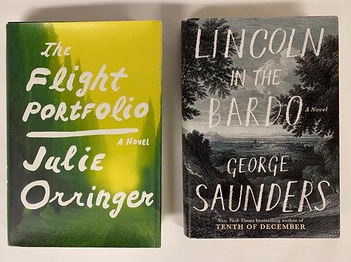 """The Flight Portfolio"" Fiction Book Stack"