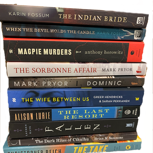 """""""Indian Bride"""" Mystery Book Stack"""