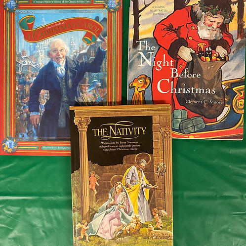 The Nativity Book Stack
