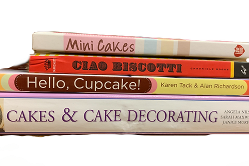 Cakes Galore Cook Book Stack