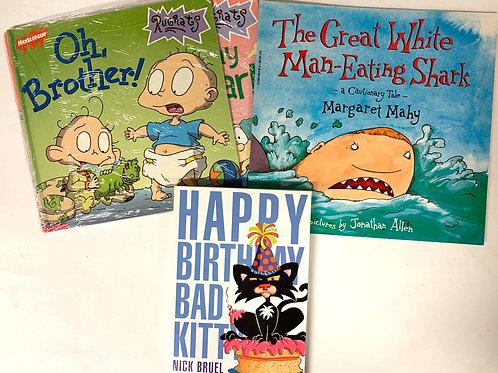 "Grades K - 1  ""Happy Birthday Bad Kitty"" Book Stack"