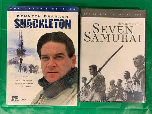 Shackleton + Samurai DVDs