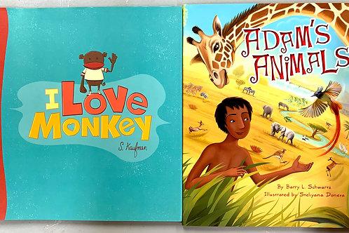 Adam's Animals + I Love Monkey, Picture Book Stack