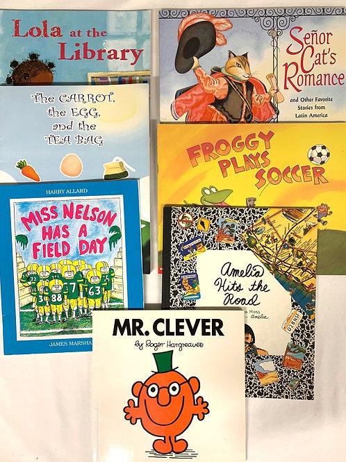 """Preschooler """"Mr. Clever"""" Book Stack"""