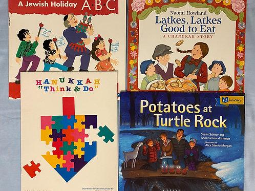 """""""Potatoes"""" Hanukah Book Stack"""