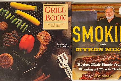 Barbeque Cook Book Stack