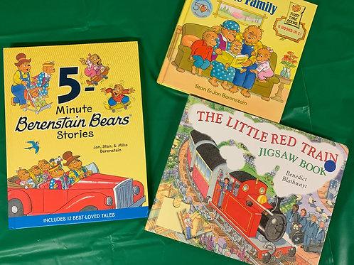 """Preschooler """"Red Train"""" Book Stack"""