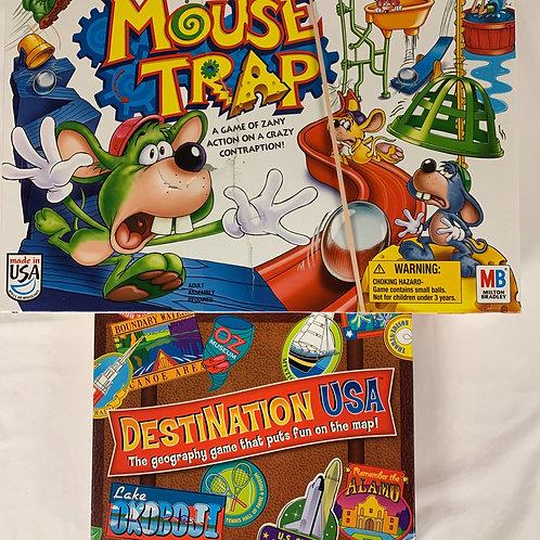 Mouse Trap + Destination USA Board Games