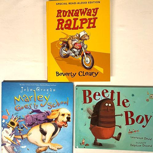 """Preschooler """"Runaway Ralph"""" Book Stack"""