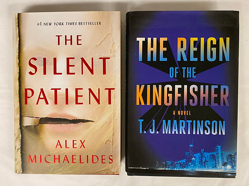 """""""The Silent Patient"""" Book Stack"""