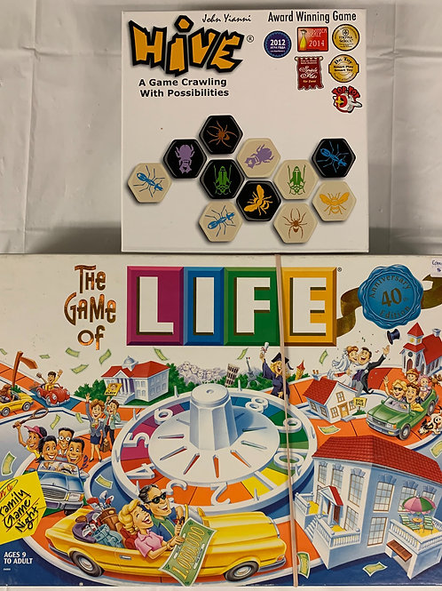 Hive + Life Board Games