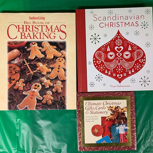 Scandinavian Christmas Book Stack