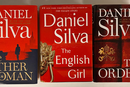 "Daniel Silva ""The Order"" Mystery Book Stack"