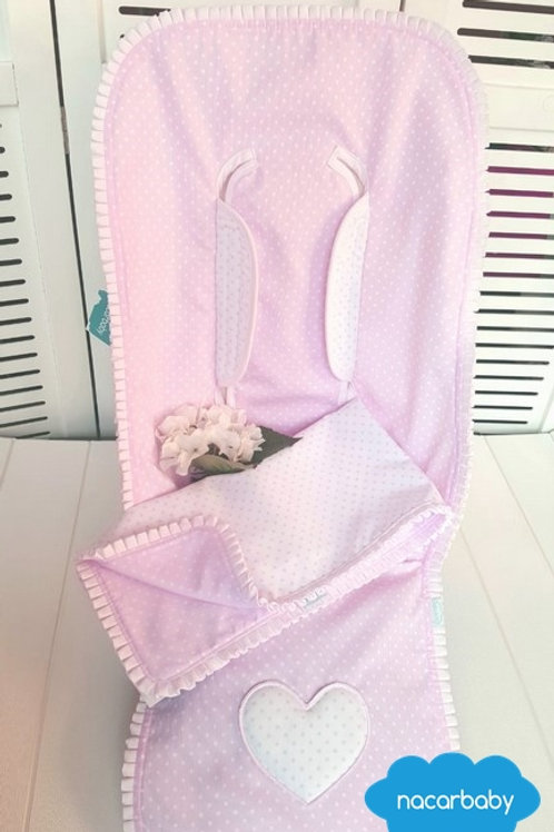 Colchoneta para Silla de Verano Topitos - Corazón Rosa