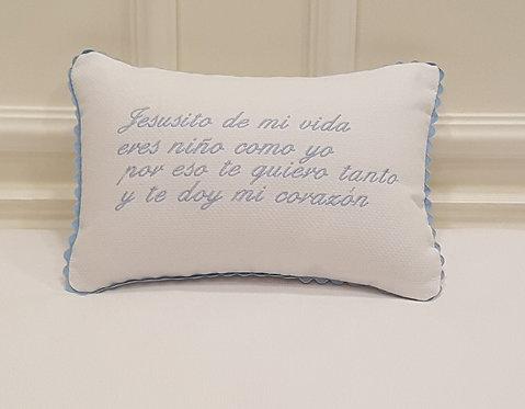 """Cojín Antivuelco """"Jesusito de mi vida..."""""""