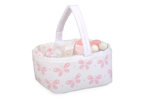 Canastilla Juguete para los Bebés Reborn Rosa