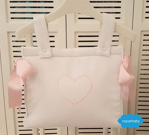Bolso de carro de bebé Corazón Rosa Piqué