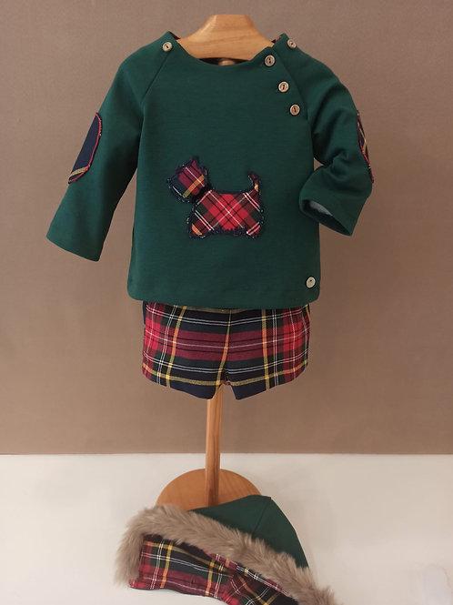 Conjunto de dos piezas modelo escocés