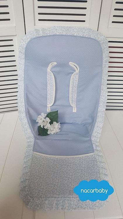 Colchoneta para Silla de VeranoModelo Ramitas Azul