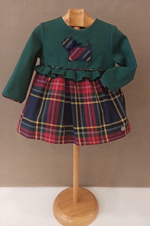 Vestido modelo escocés