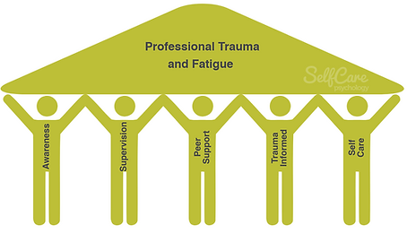 5 Pillars of Protection: Awareness, Supervision, Trauma Informed, Peer Support, Self Care