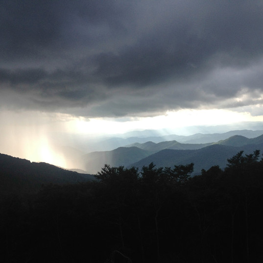 a storm is brewing on the blue ridge parkway