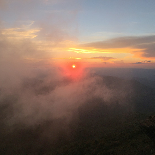 craggy sunset