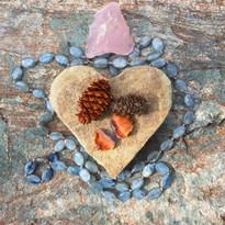 kyanite & rose quartz