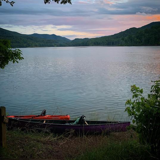 watauga lake on summer solstice