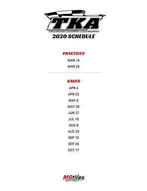 TKA - Tennessee Karting Association 2020 Racing and Practice Schedule