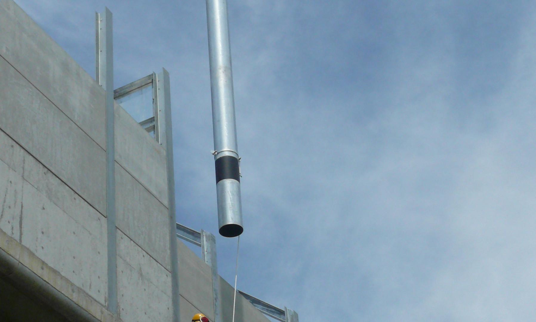 北陸新幹線1号柱設置