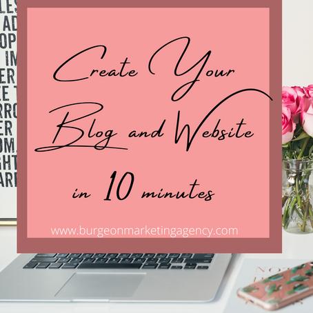 Start Your Blog in Under 10 Minutes.