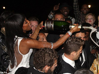 Champagne Jacquart became the main champagne sponsor of Naomi Campbell's birthday