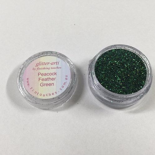 Glitter-Arti Glitz Peacock Feather Green