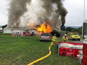 Barn Fire Blaze