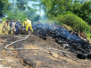 Wood Pile Fire