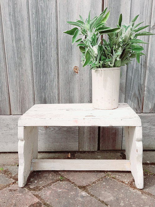 White Chippy Paint Step Stool