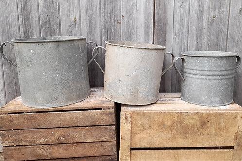 Galvanised Handled Pot