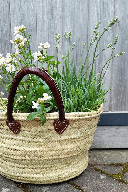 Leather Handled Market Bag
