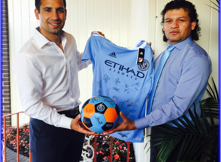 THANK YOU NYCFC and RODRIGO MARION FOR YOUR SUPPORT