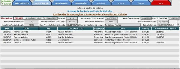 Controle de Frotas - Análise Individual por Veículo
