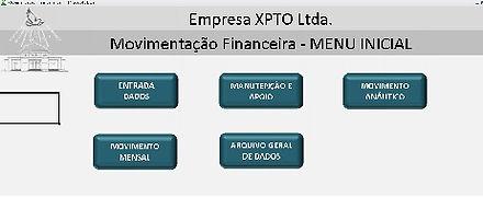 Só Planilha Excel / Movimentação Financeira / Tela Inicial