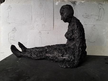 Half-life size sculptures