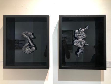 Framed sculptures at Ebony Gallery Franschhoek 2019