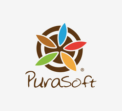 purasoft logo design