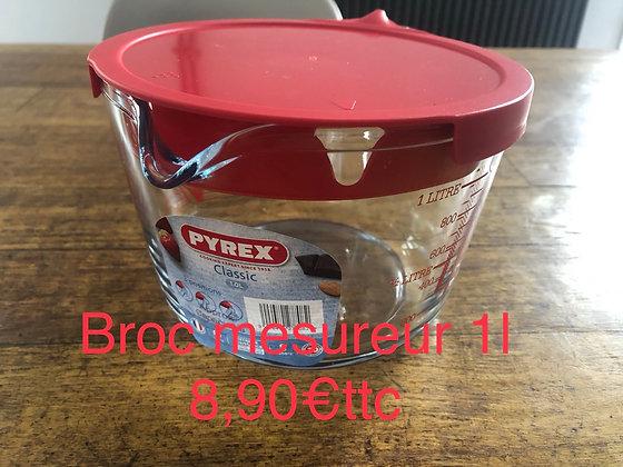 Broc mesureur verre Pyrex 1L