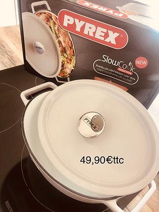 Cocotte fonte émaillée 29cm Pyrex