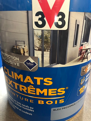 Peinture bois extérieur bleu Provence 2,5L V33